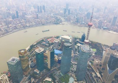 From Shanghai Tower observation deck